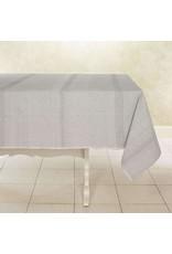 "Woven Cotton Tablecloth 90""x 60"" Sea Salt, India"