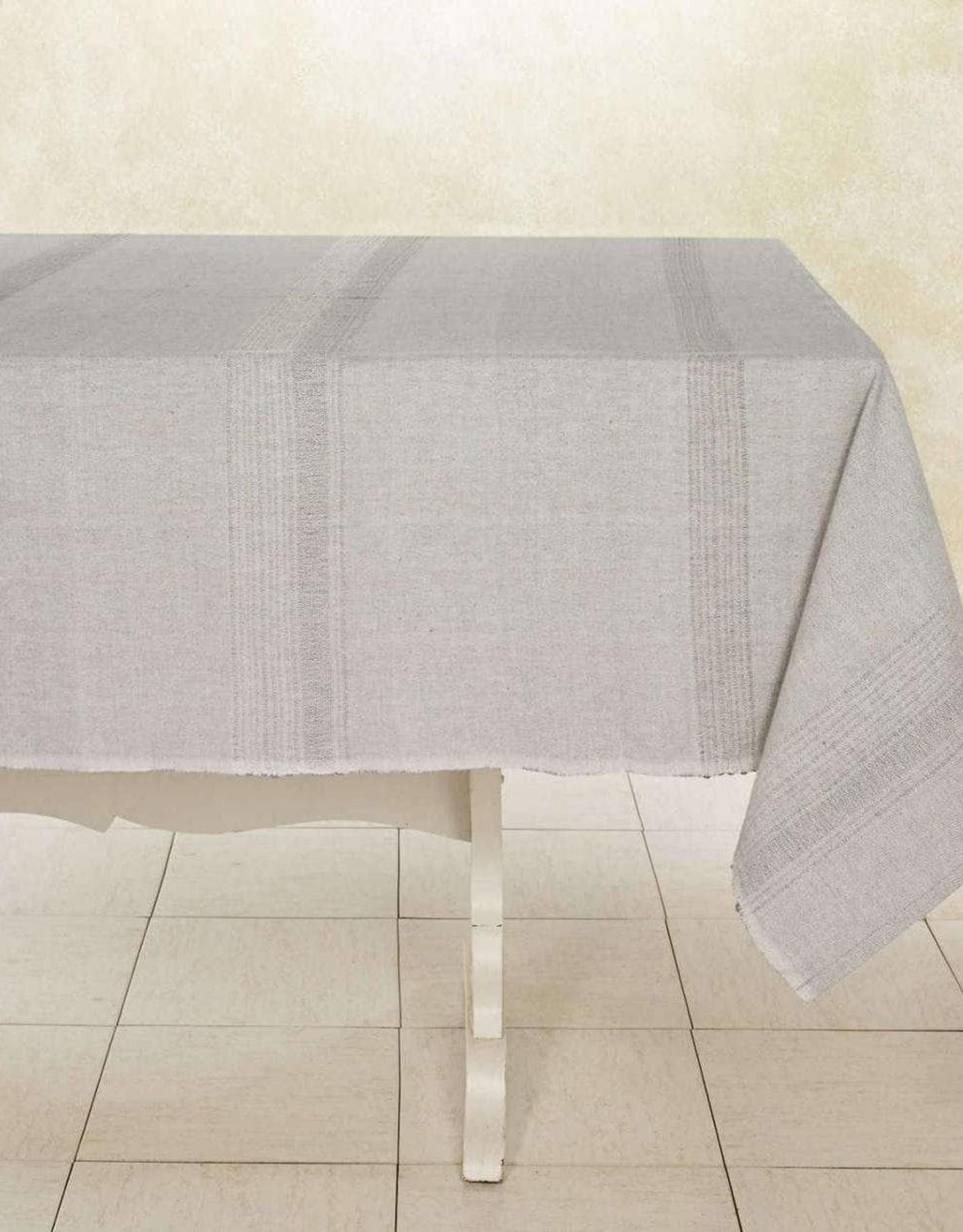 "India, Woven Cotton Tablecloth 90""x60"" Sea Salt"