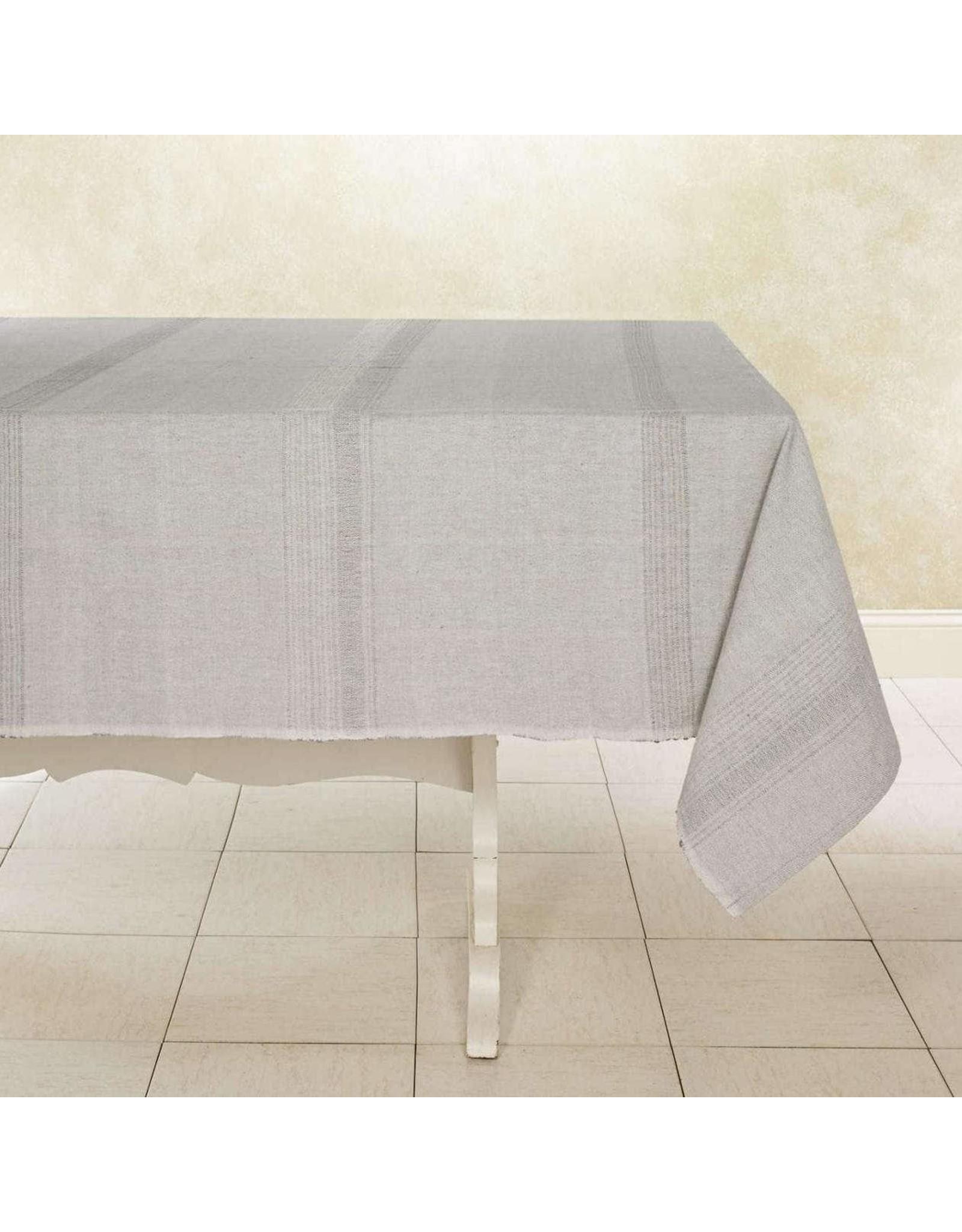 "Woven Cotton Tablecloth 90""x60"" Sea Salt, India"