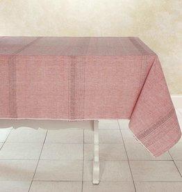 """India, Woven Cotton Tablecloth 90""""x60"""" Sun Rose"""