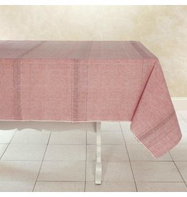 """Woven Cotton Tablecloth 90""""x 60"""" Sun Rose, India"""