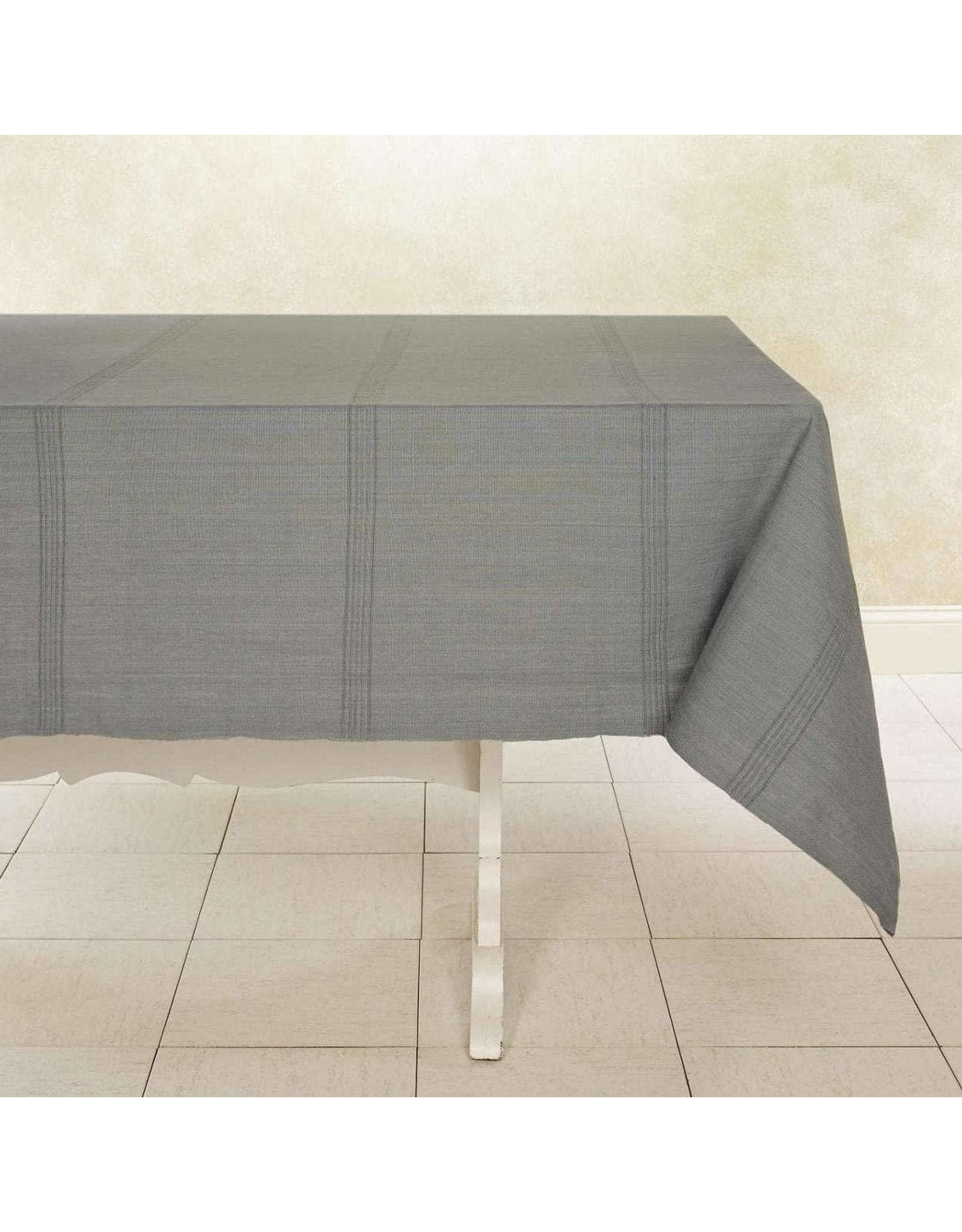 "Woven Cotton Tablecloth 90""x 60"" Mushroom, India"