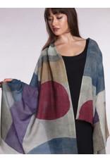 Reena Wool Shawl Multi Color, Purples