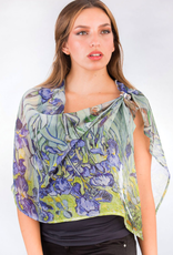 India, Aloka, Bemberg Cotton Georgette Iris