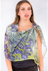 Aloka, Bemberg Cotton Georgette Iris, India