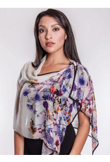 Aashi Bemberg Cotton Scarf Floral,  India