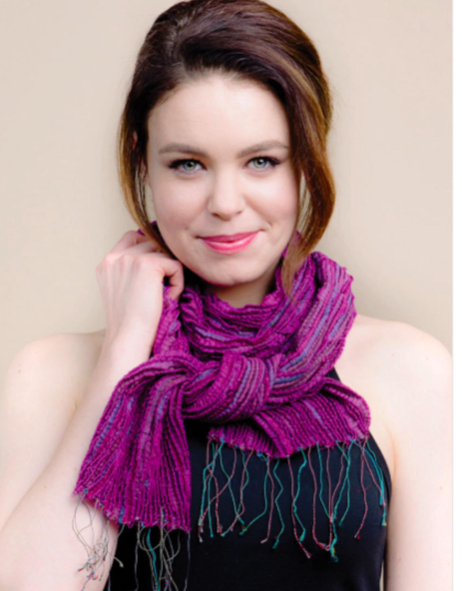 India, Revati Infinity Scarf, Silk and Wool Fuchsia