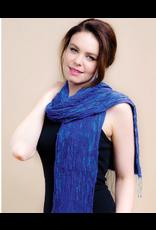 Revati Scarf, Silk and Wool Periwinkle,  India