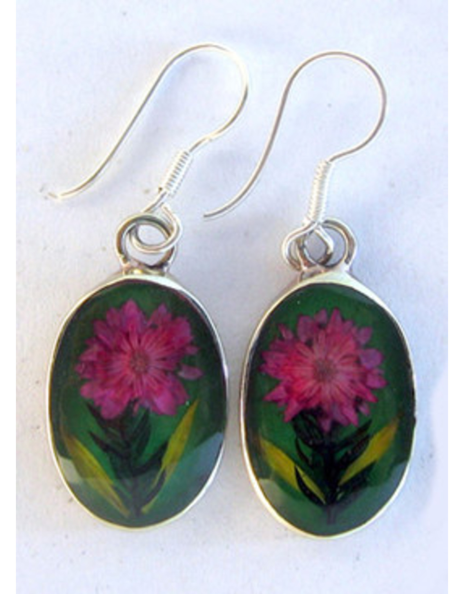 Nahua Flower Earrings Tiny Nahua Flower, Mexico