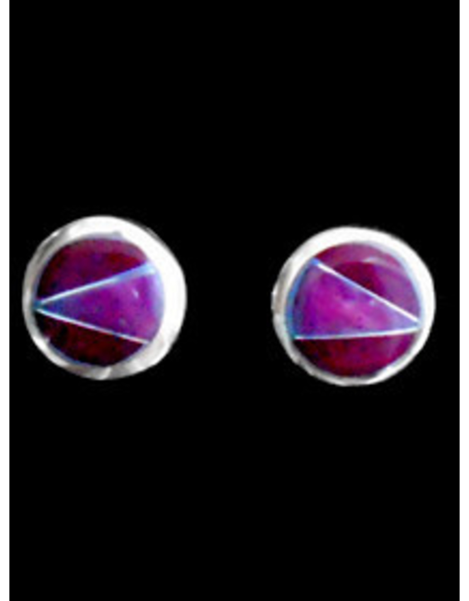 Amethyst Post Alpaca Earrings, Mexico