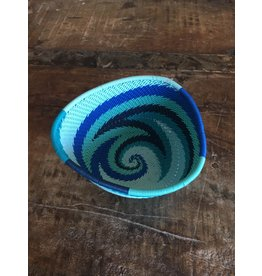 Telephone Wire Triangle Bowl, African Ocean