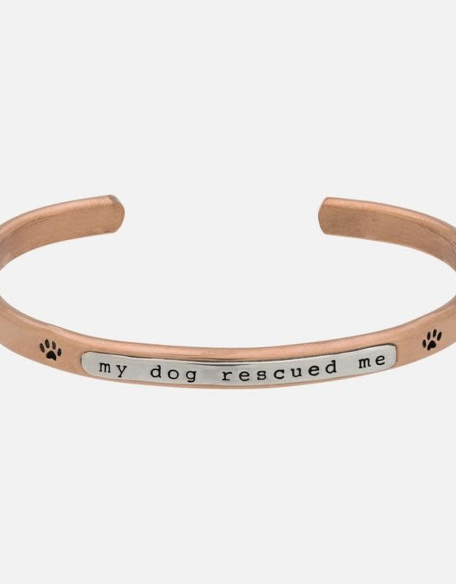 Stackable Cuffs,  MY DOG RESCUED ME