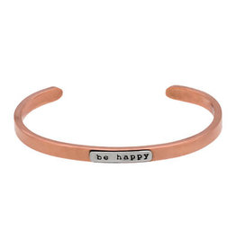 Stackable Cuffs, BE HAPPY