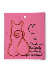 Wire Card Bookmark Cat