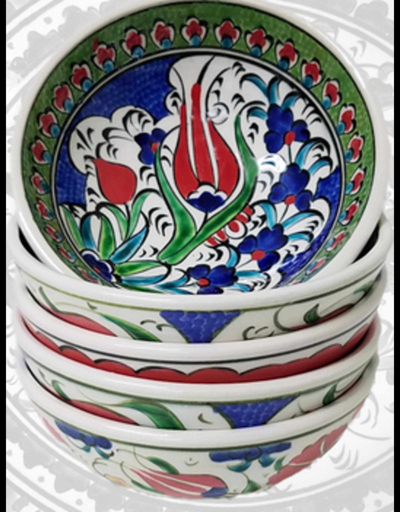 "3"" Hand Painted Iznik  Bowl, Royal Blue Tones"