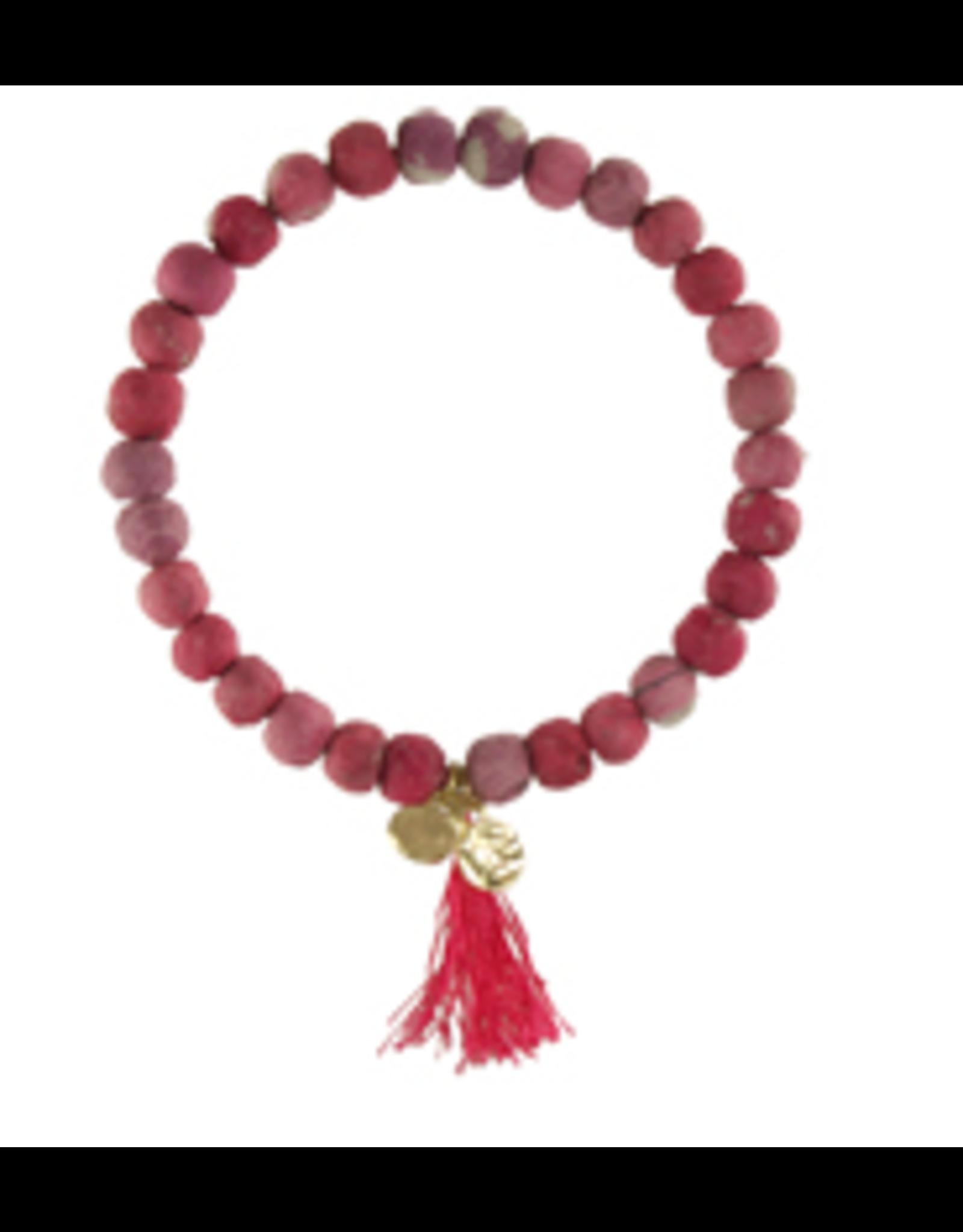 Kantha Connection Bracelet, Compassion, India