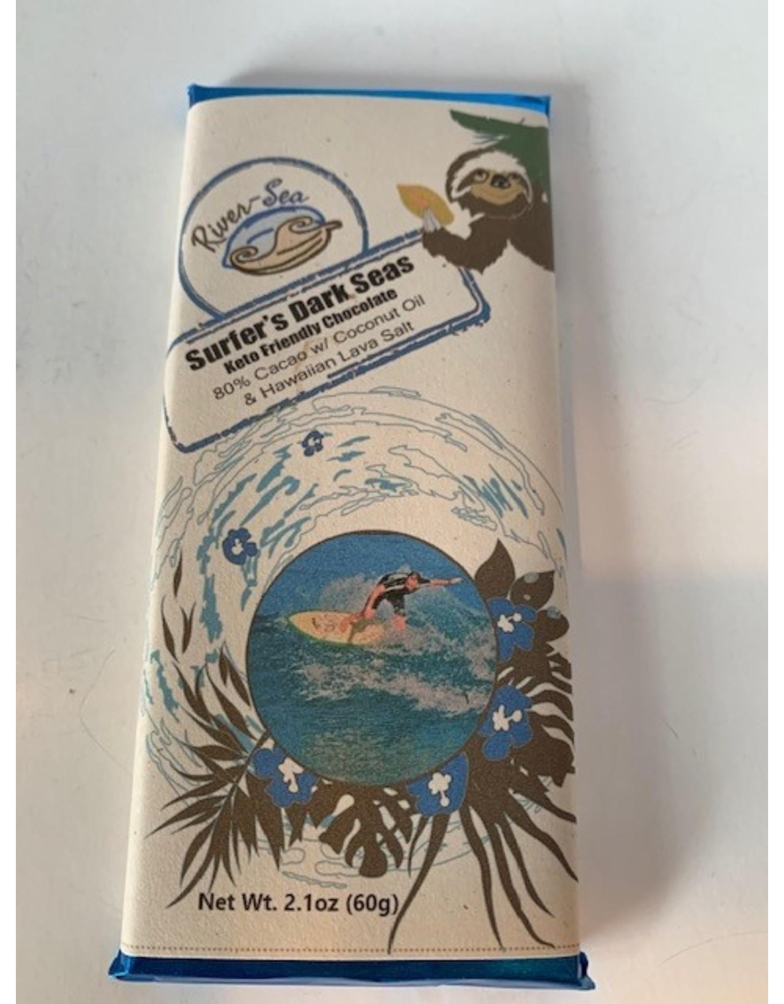 River-Sea Chocolate Surfers Dark Sea