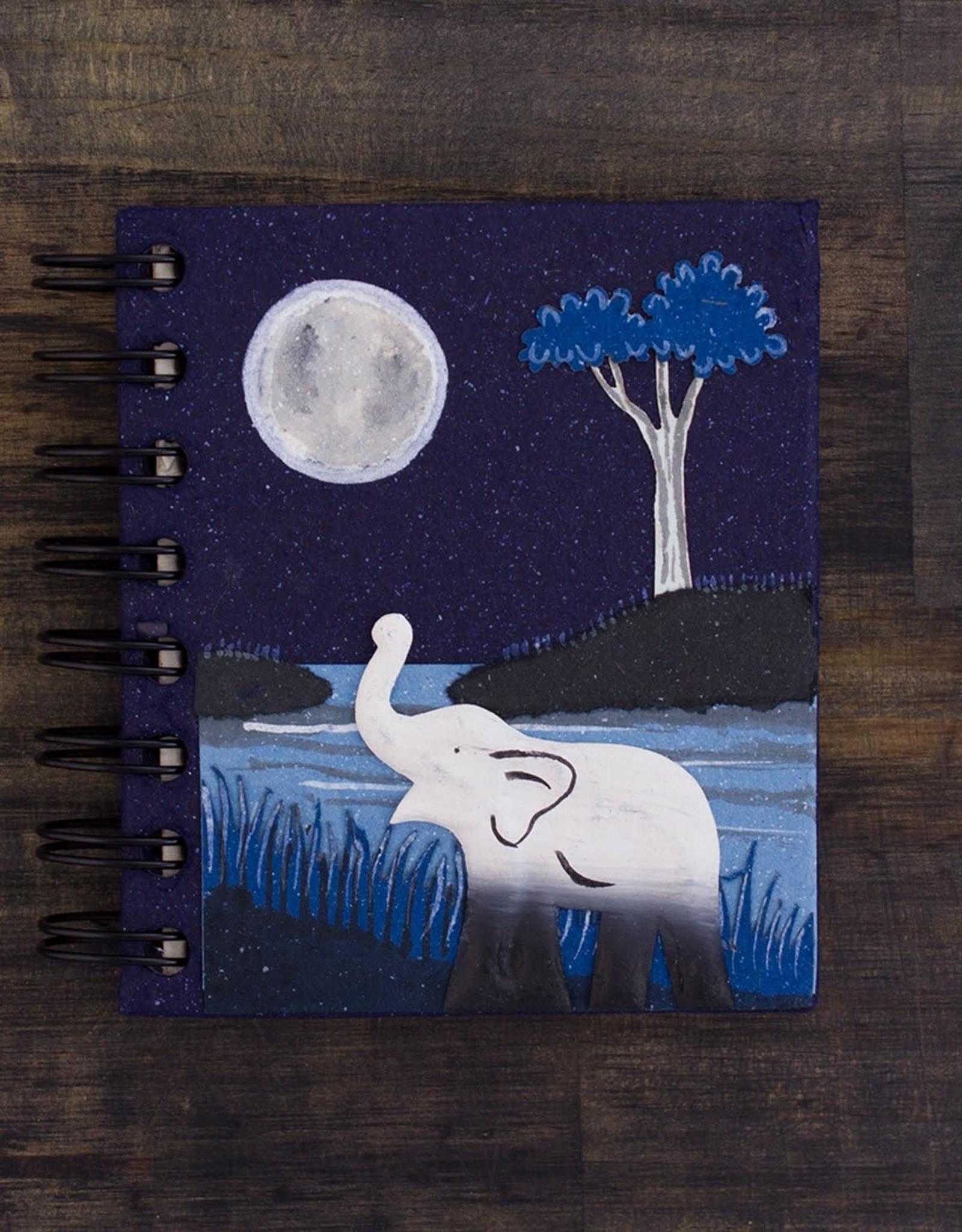 Sri Lanka, Small Notebook  Elephant Midnight