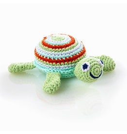 Sea Turtle Rattle, Green or Pink