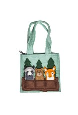 Felt Woodland Friends Finger Puppets Bag, Nepal