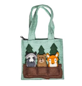 Woodland Friends Kids Puppet Bag, Nepal
