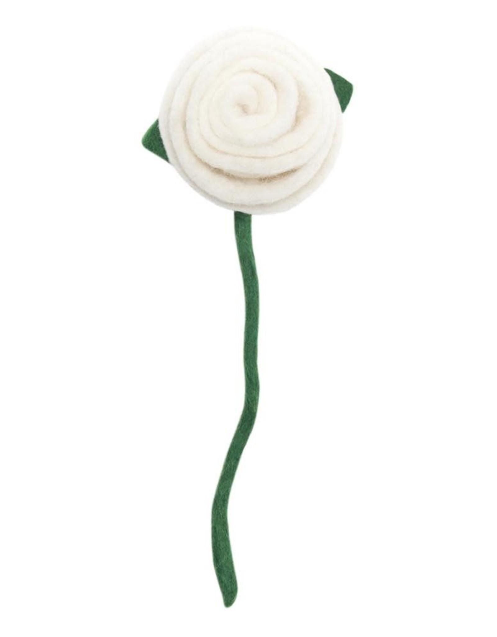 Nepal, Felt Tea Rose, WHITE