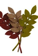 Nepal, Felt Harvest Leaf MARSALA