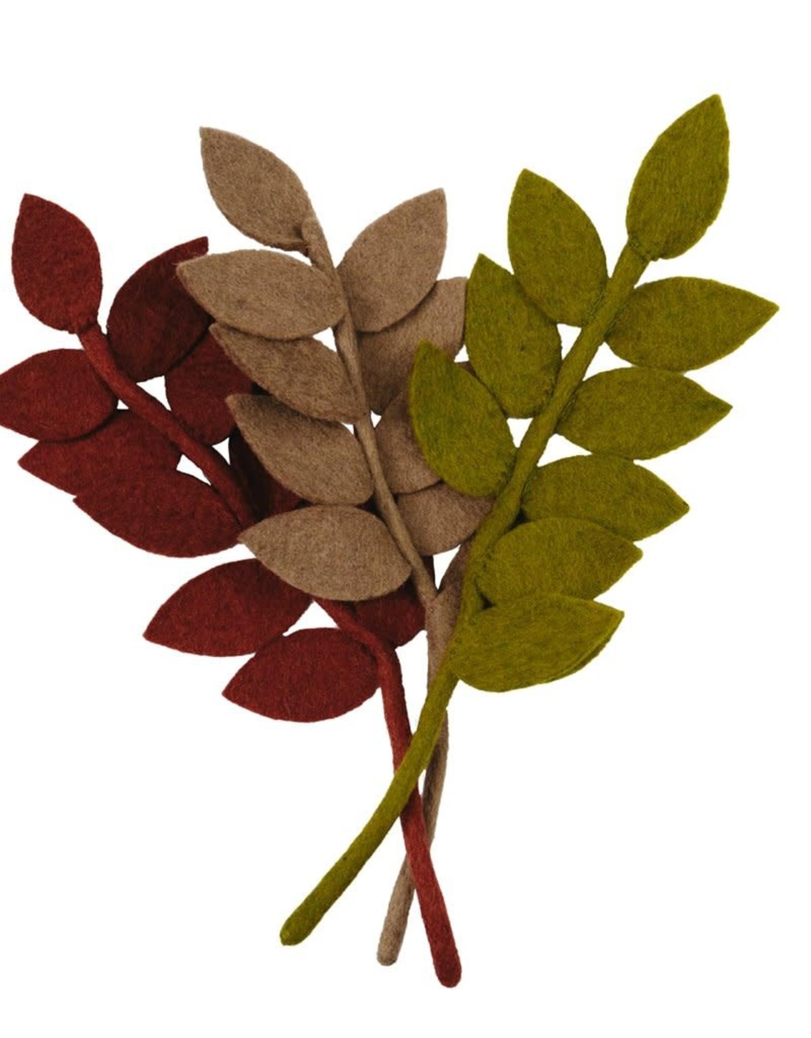 Nepal, Felt Harvest Leaf BROWN