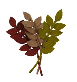 Nepal, Felt Harvest Leaf MOSS GREEN
