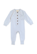 India, Organic Knit Coverall Sky Blue 12-18 months