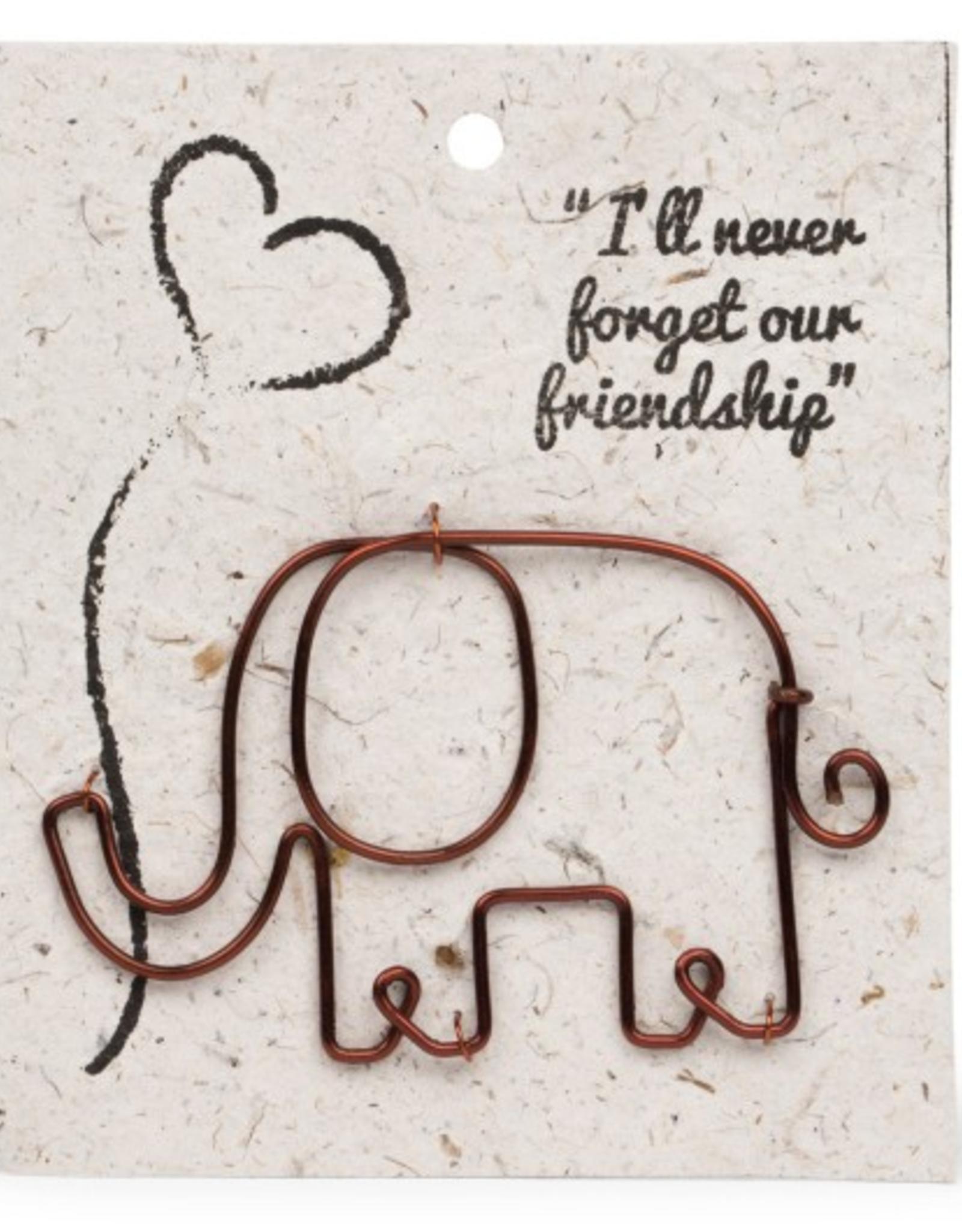 Card Book Mark Elephant