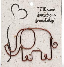Wire Elephant Bookmark
