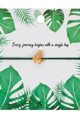 Charm Bracelet on Inspirational Card Frog, India