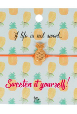 Charm Bracelet on Inspirational Cards Pineaple