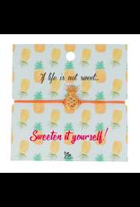 Charm Bracelet on Inspirational Card, Pineapple, India