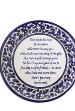 West Bank, Giving Poem Ceramic Plate