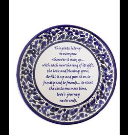 Giving Poem Ceramic Plate, West Bank