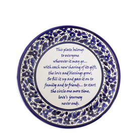 West Bank, Giving Poem Ceramic Plate