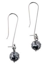 Peru, Sterling  Dark Orb Earrings