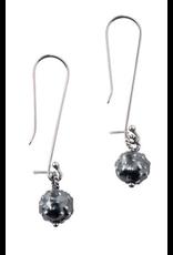 Sterling  Dark Orb Earrings