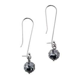 Sterling  Dark Orb Earrings