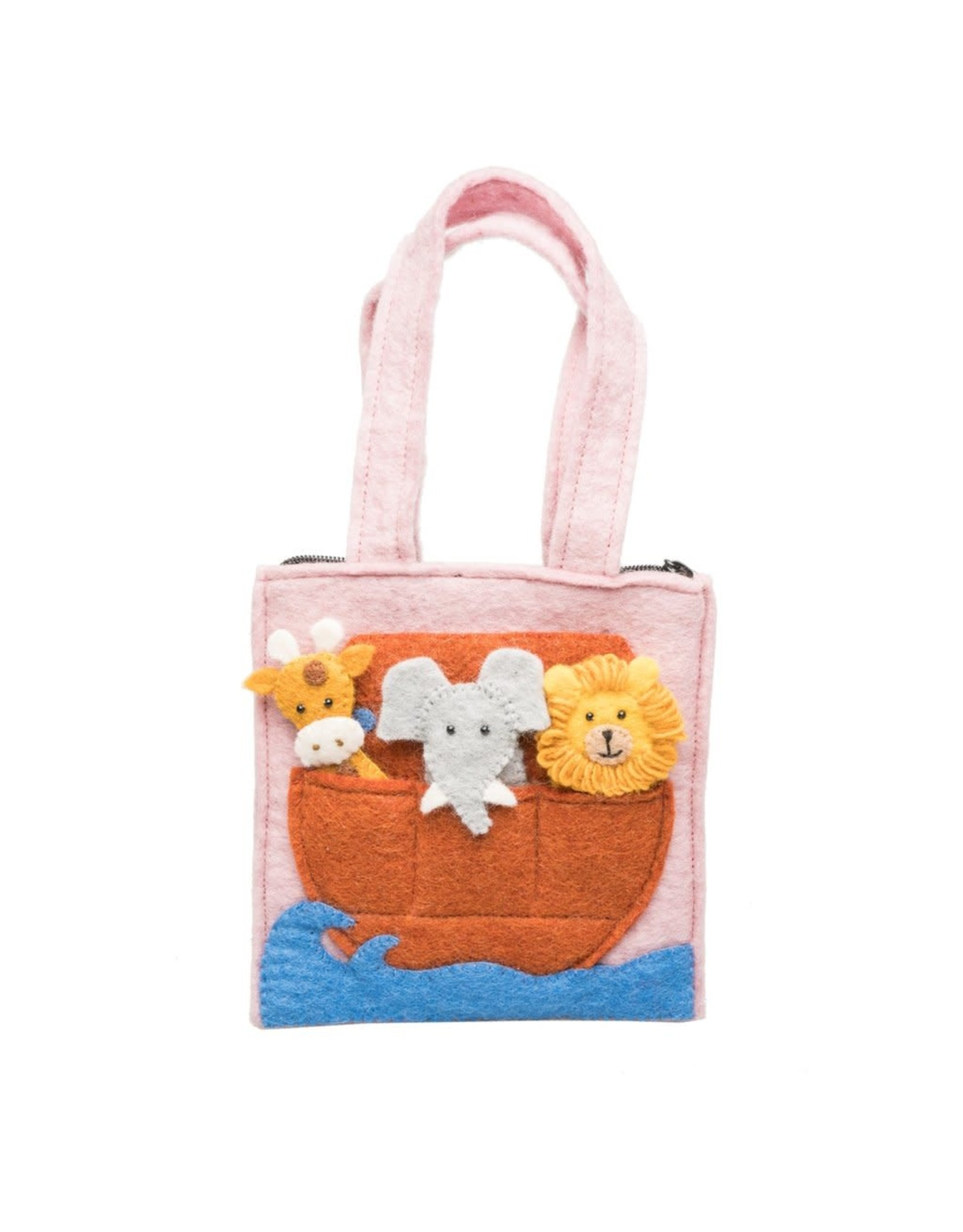 Felt Noah's Ark  Finger Puppets Bag, Nepal