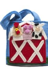 Felt Barnyard Puppet Bag