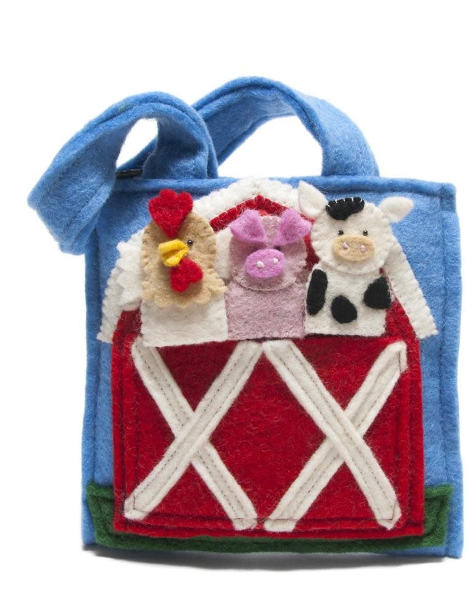 Nepal, Felt Barnyard Puppet Bag