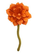 Nepal, Felt Lotus Flower ORANGE