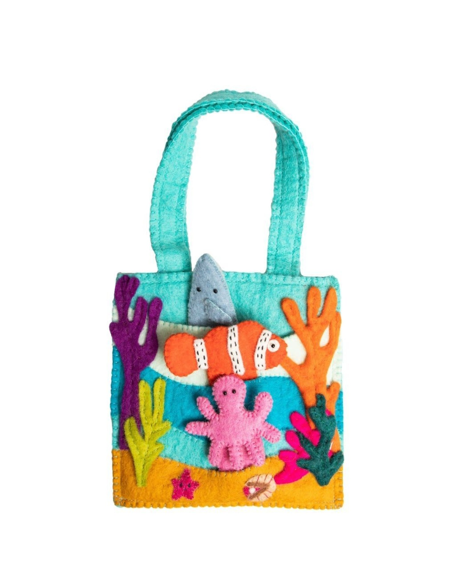Felt Under the Sea Puppet Bag , Nepal