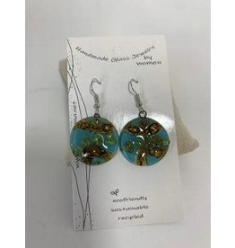 Glass Earrings Round, Ecuador