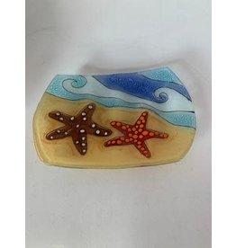 Blown Glass Dish, Star Fish
