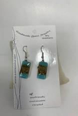 Ecuador, Glass Earrings Rectangle