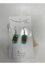 Glass Earrings Rectangle, Ecuador